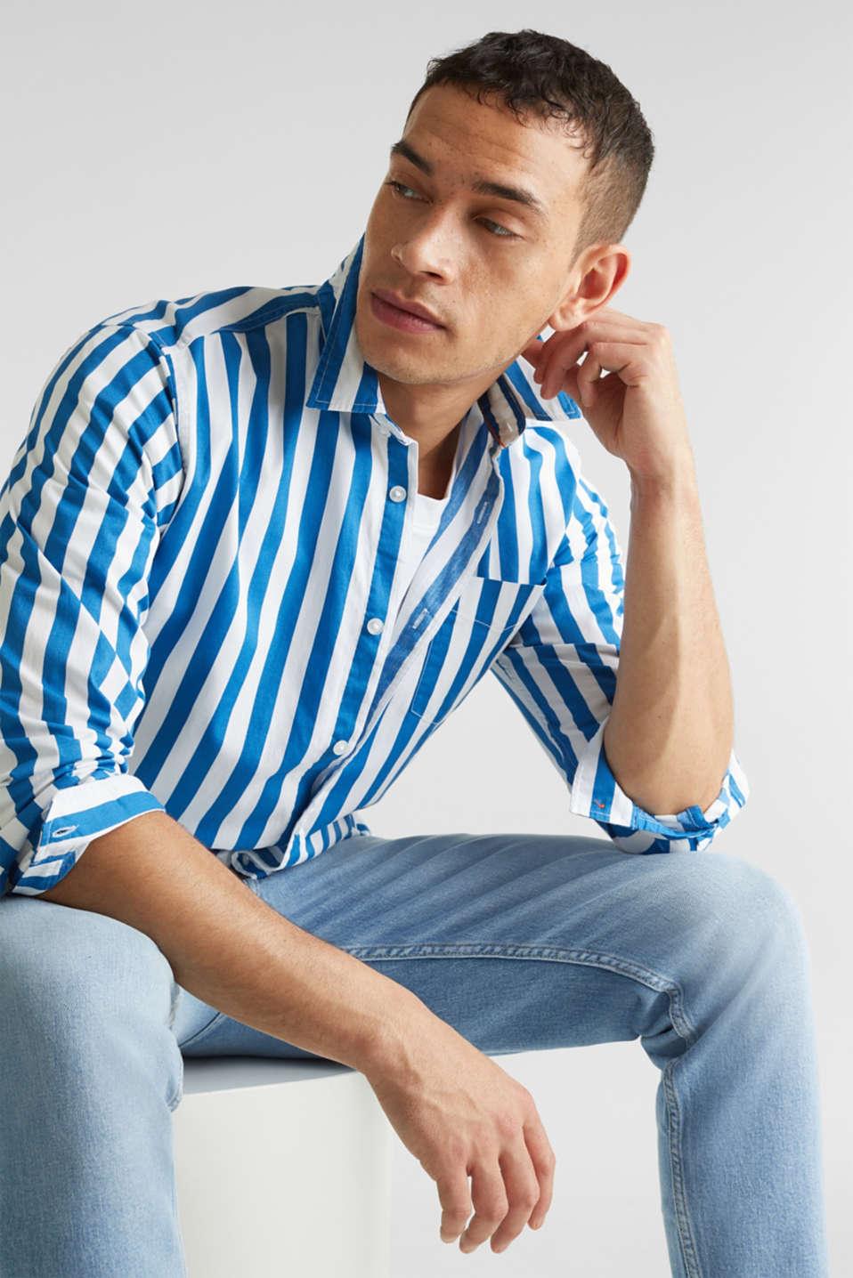Striped shirt, 100% cotton, BLUE 3, detail image number 6