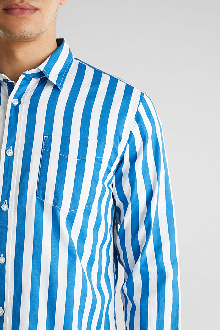Striped shirt, 100% cotton, BLUE, detail image number 2