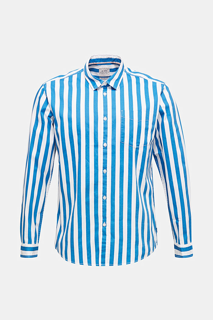 Striped shirt, 100% cotton, BLUE, detail image number 7