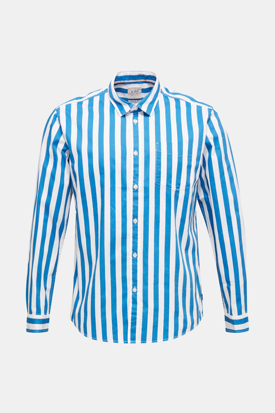 Striped shirt, 100% cotton, BLUE 3, detail image number 7