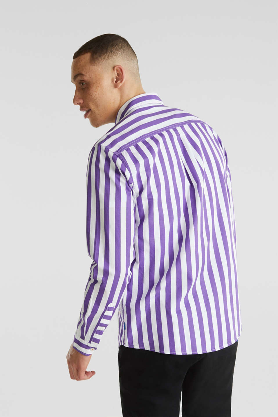 Striped shirt, 100% cotton, PURPLE 3, detail image number 3