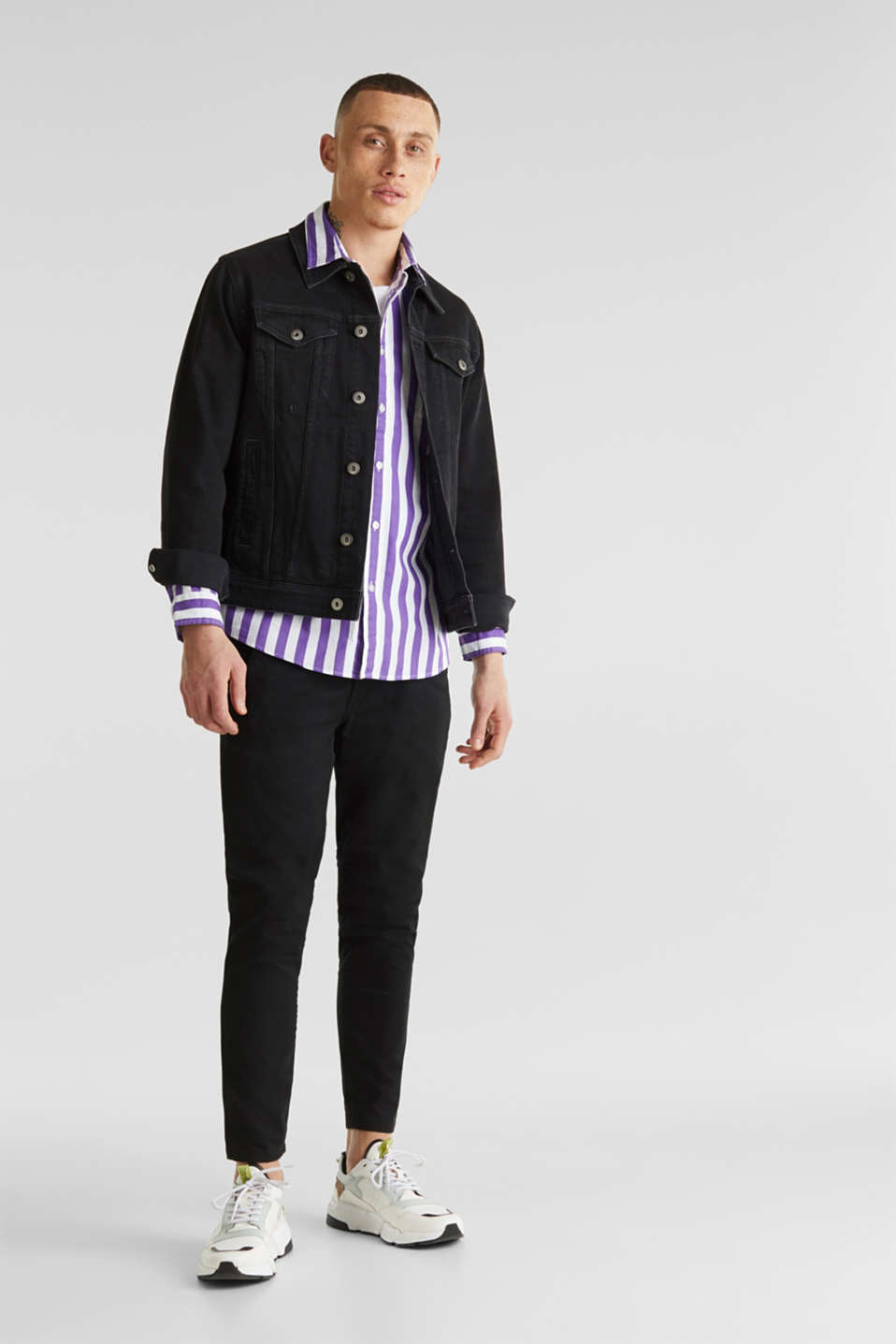 Striped shirt, 100% cotton, PURPLE 3, detail image number 7