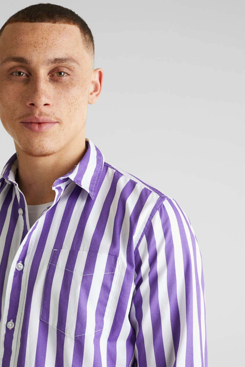 Striped shirt, 100% cotton, PURPLE 3, detail image number 2