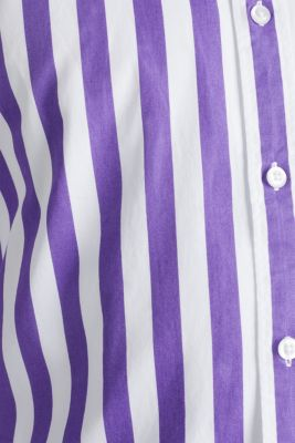 Striped shirt, 100% cotton, PURPLE 3, detail