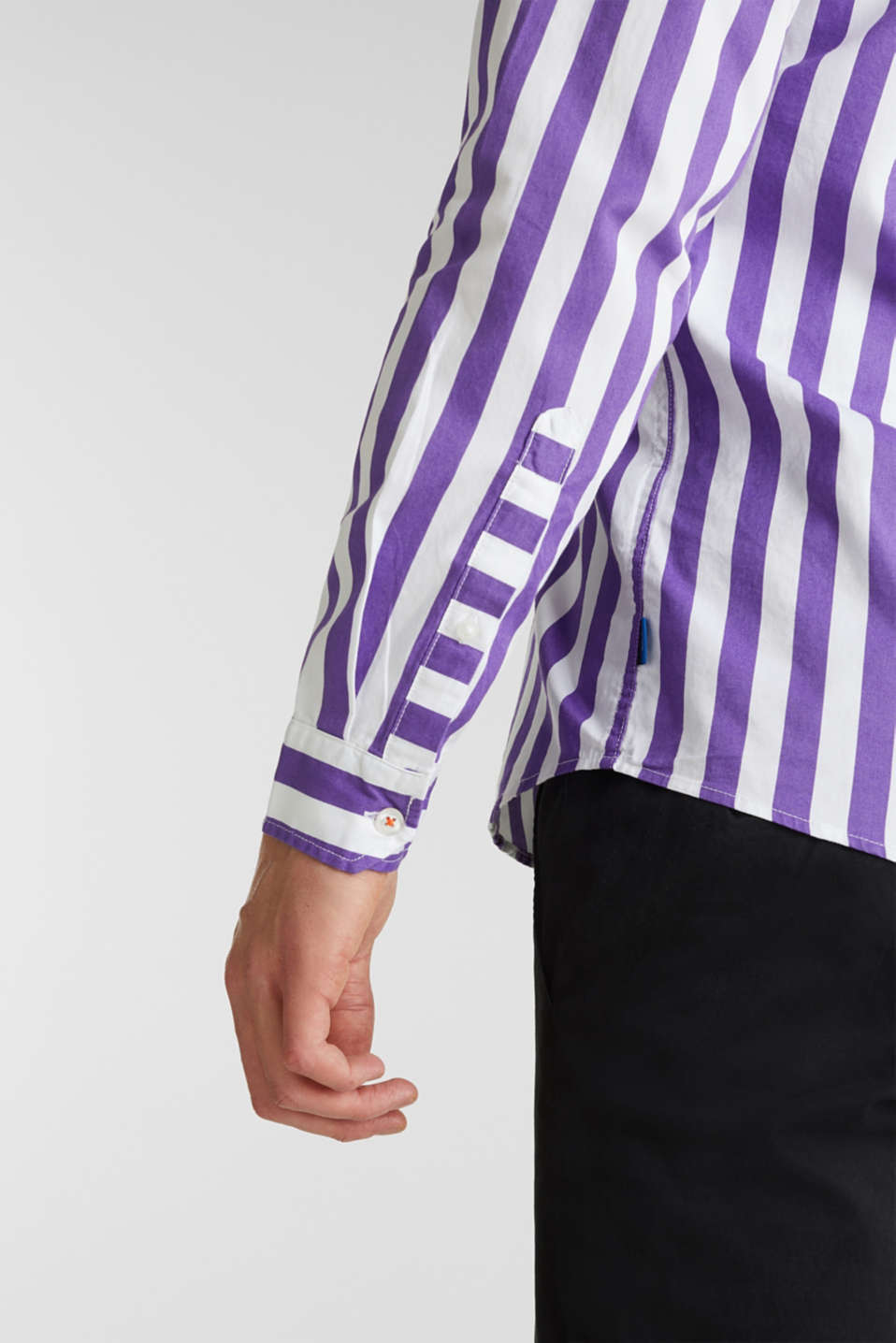 Striped shirt, 100% cotton, PURPLE 3, detail image number 5
