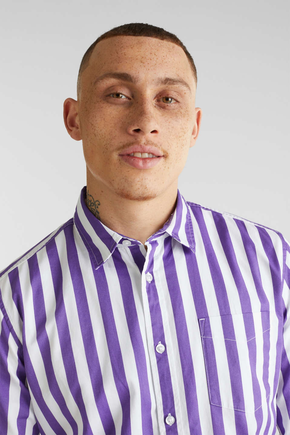 Striped shirt, 100% cotton, PURPLE 3, detail image number 6