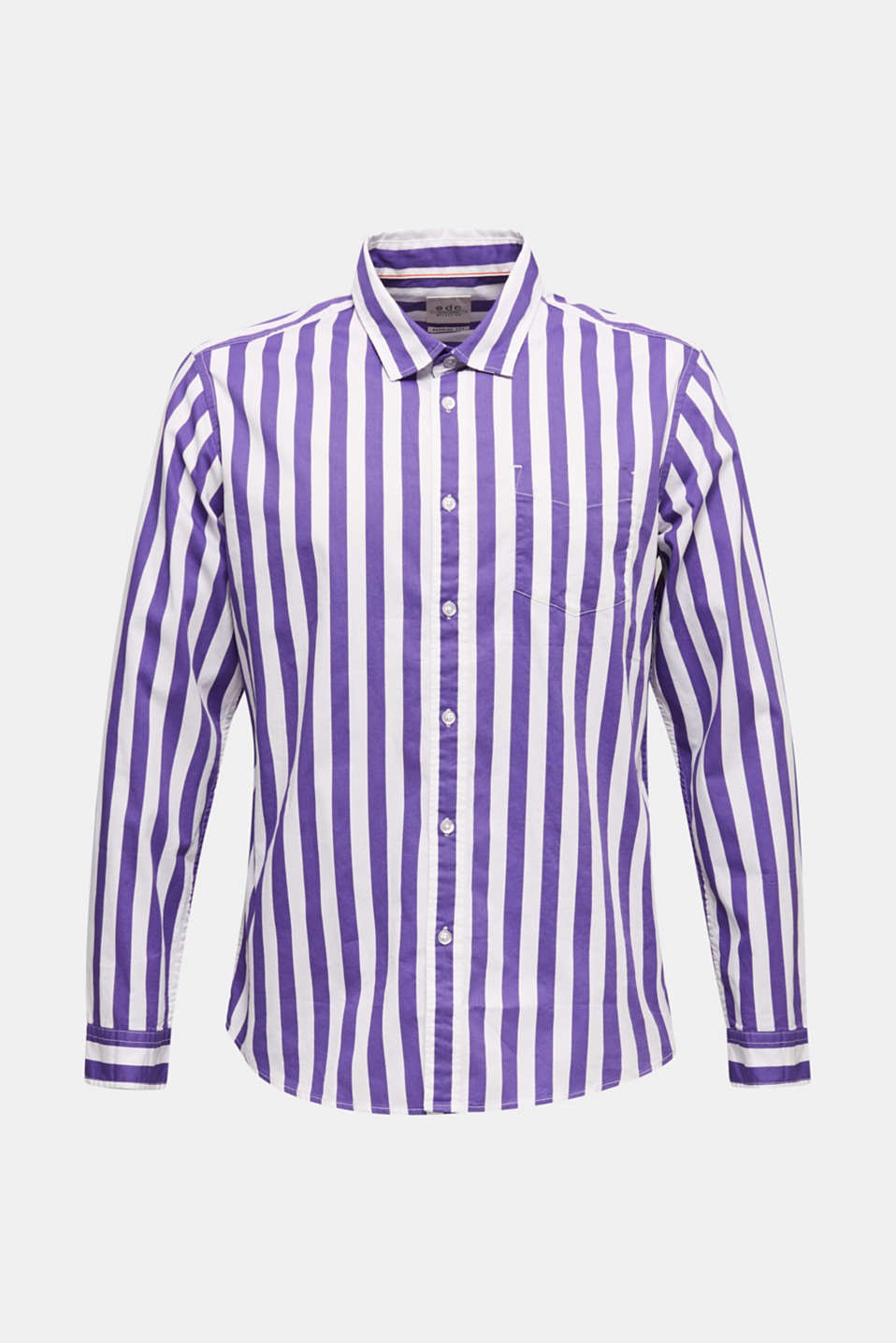 Striped shirt, 100% cotton, PURPLE 3, detail image number 8