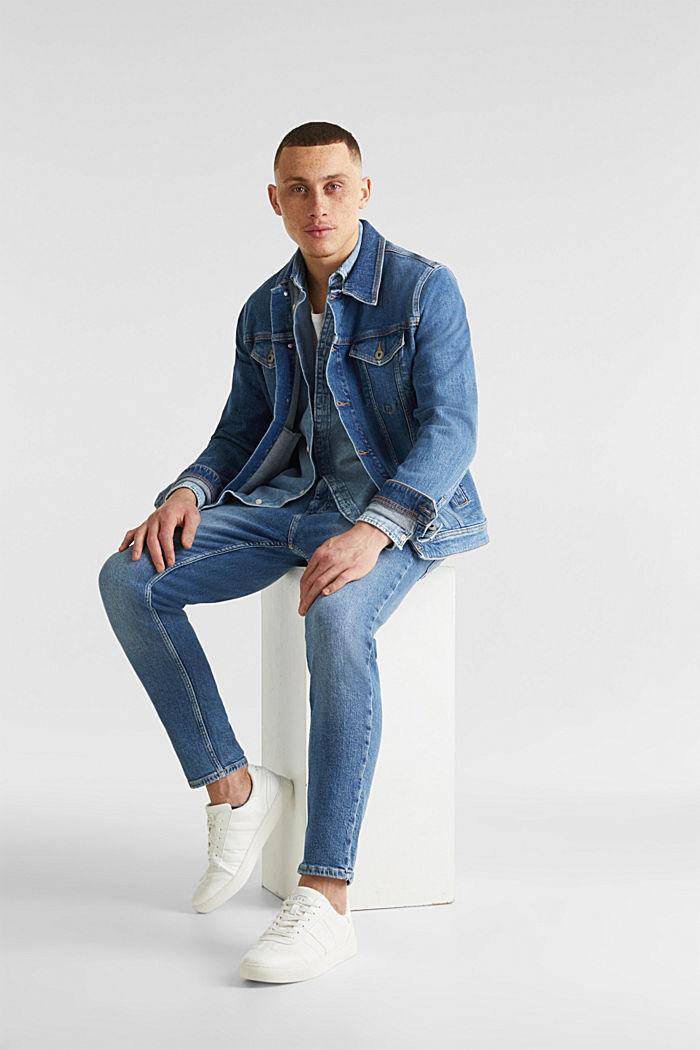 Jeansskjorta i 100% bomull, BLUE BLEACHED, detail image number 1