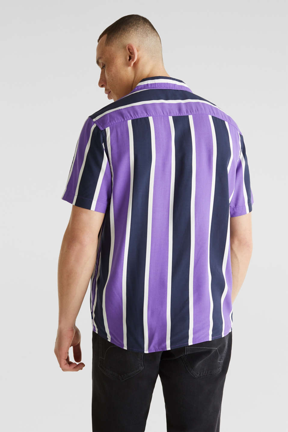 Bowling shirt with a Cuban collar, PURPLE 3, detail image number 2