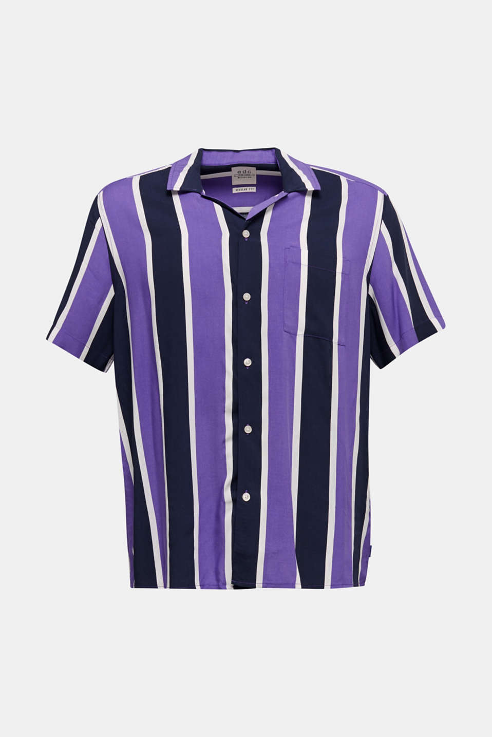 Bowling shirt with a Cuban collar, PURPLE 3, detail image number 5