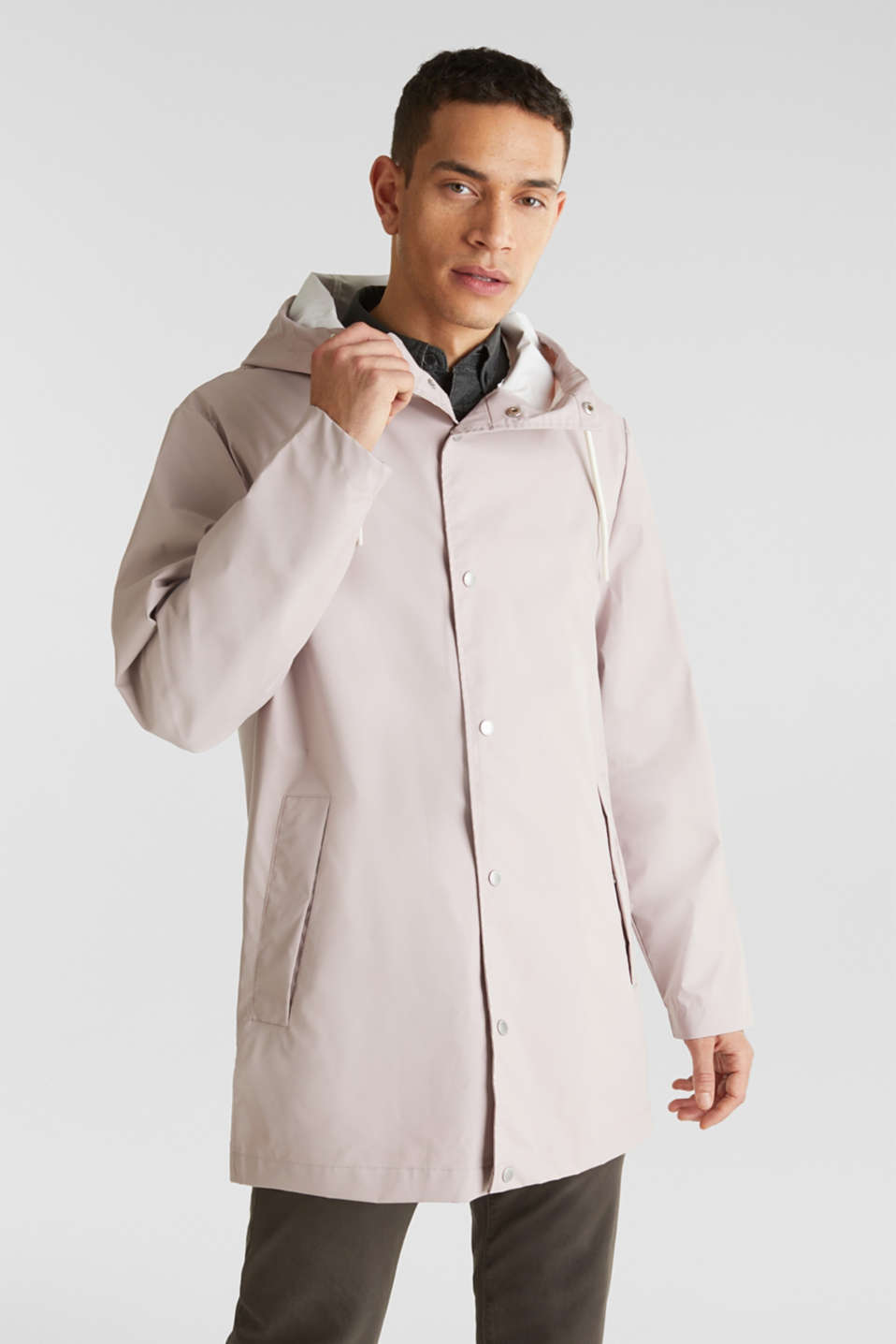 Rain jacket with hood, LIGHT PINK, detail image number 0