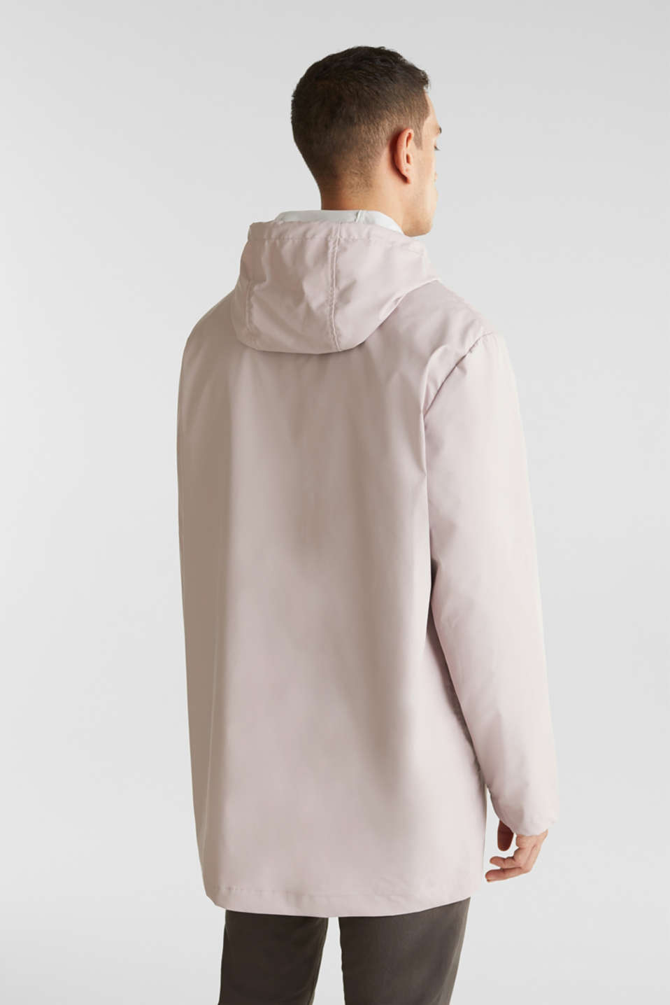Rain jacket with hood, LIGHT PINK, detail image number 2