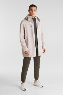 Rain jacket with hood, LIGHT PINK, detail