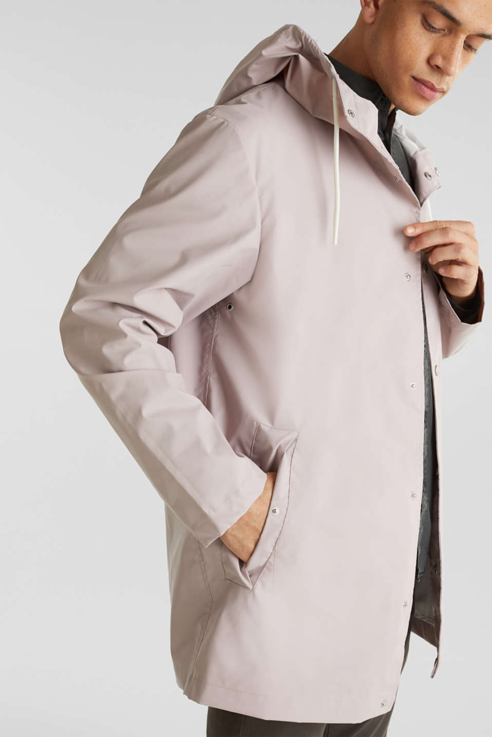 Rain jacket with hood, LIGHT PINK, detail image number 3