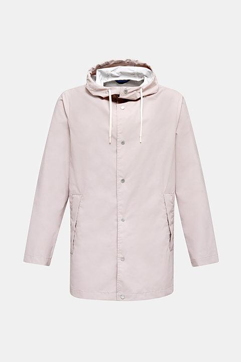 Rain jacket with hood