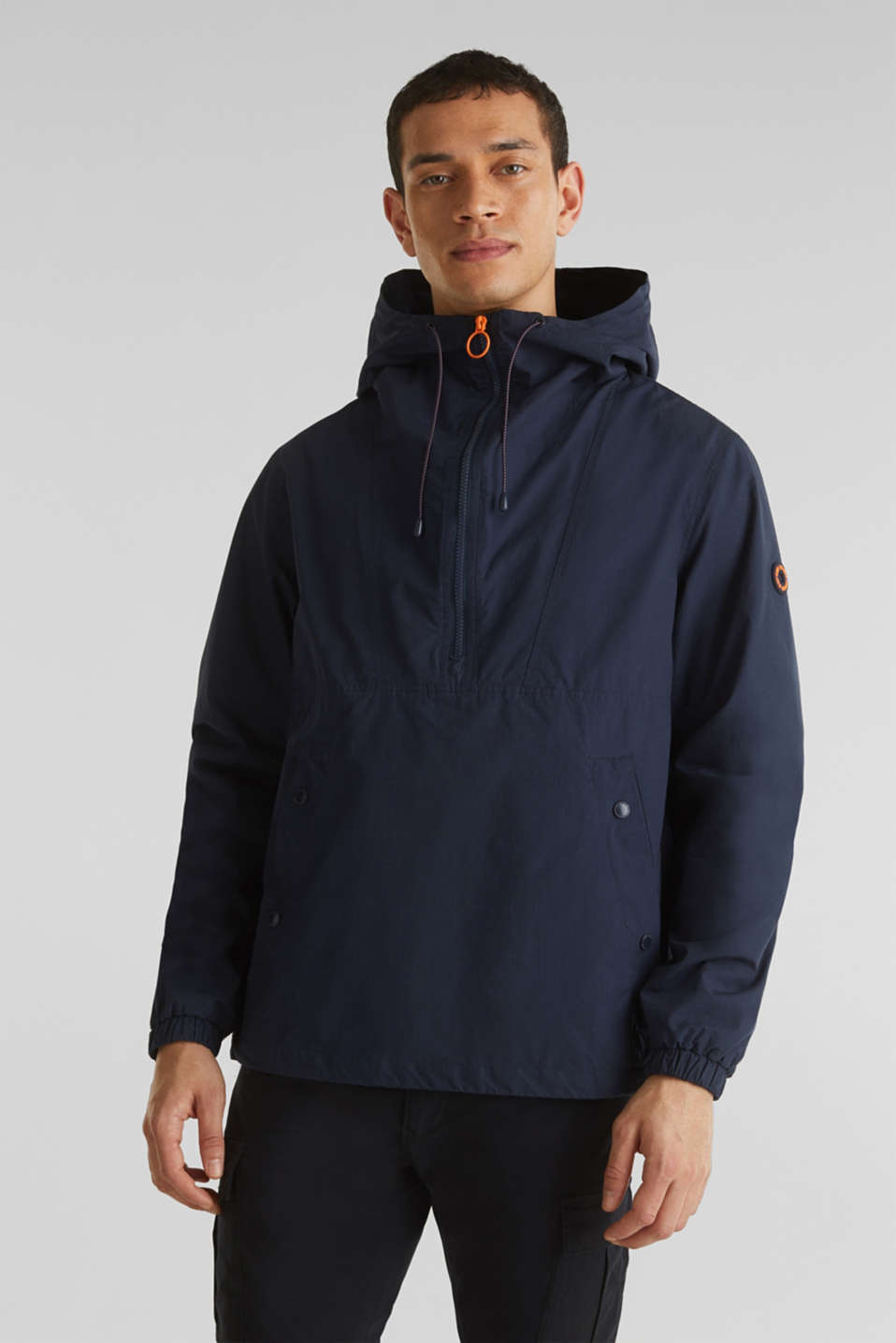 100% cotton hoodie, DARK BLUE, detail image number 0