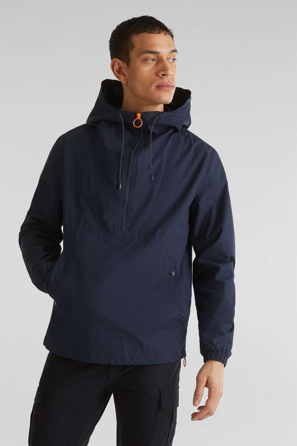 100% cotton hoodie, DARK BLUE, detail image number 4