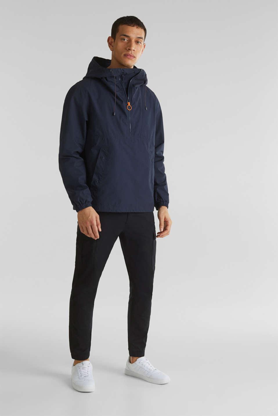 100% cotton hoodie, DARK BLUE, detail image number 1