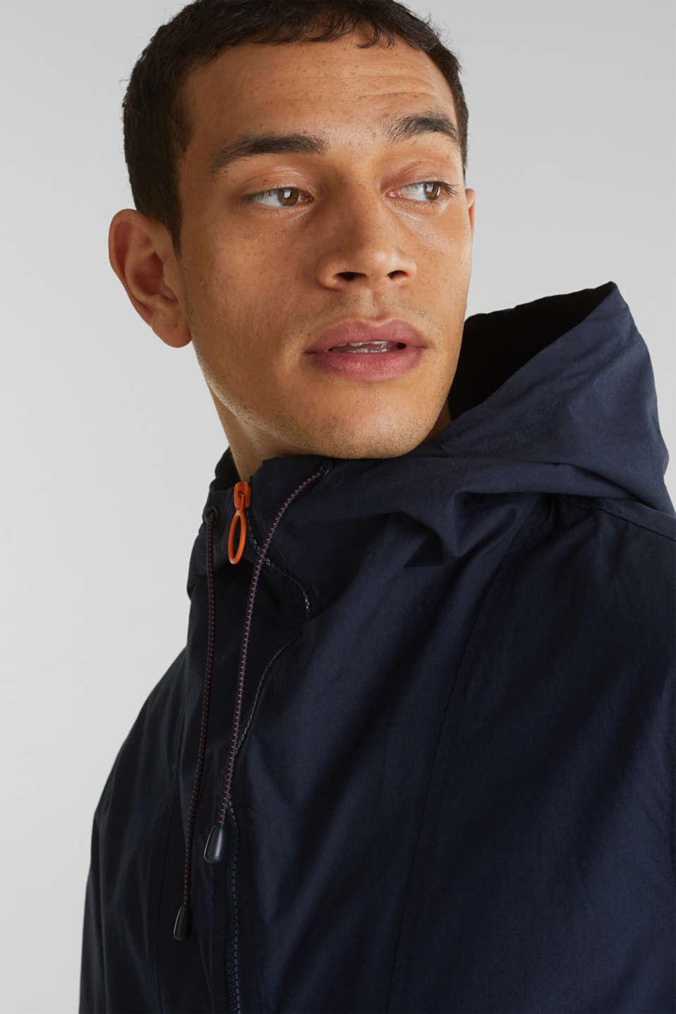 100% cotton hoodie, DARK BLUE, detail image number 2