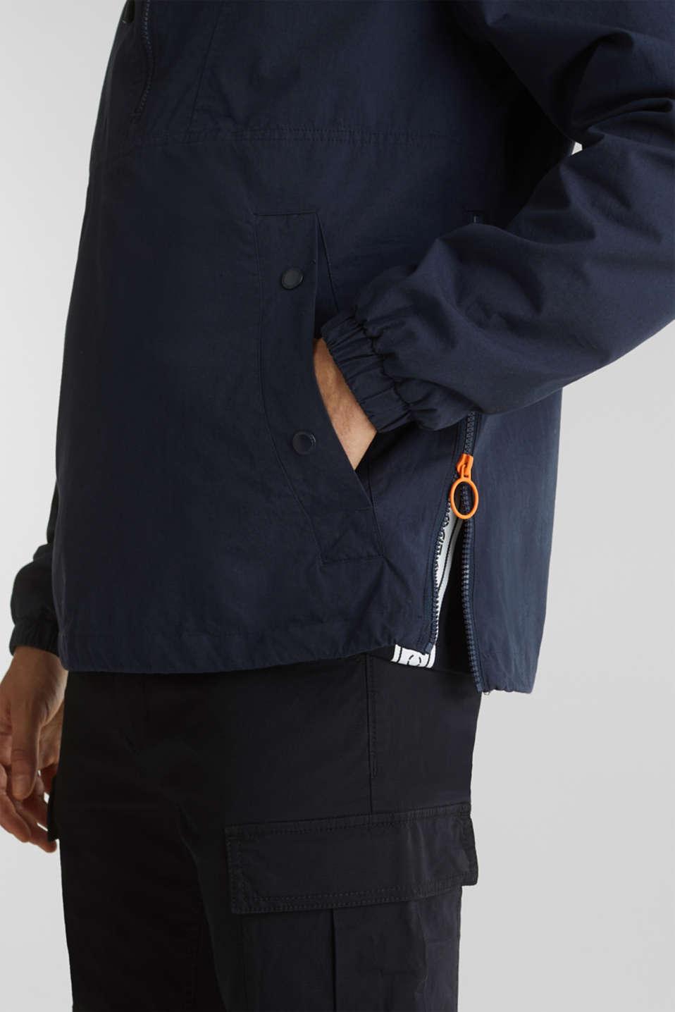100% cotton hoodie, DARK BLUE, detail image number 6