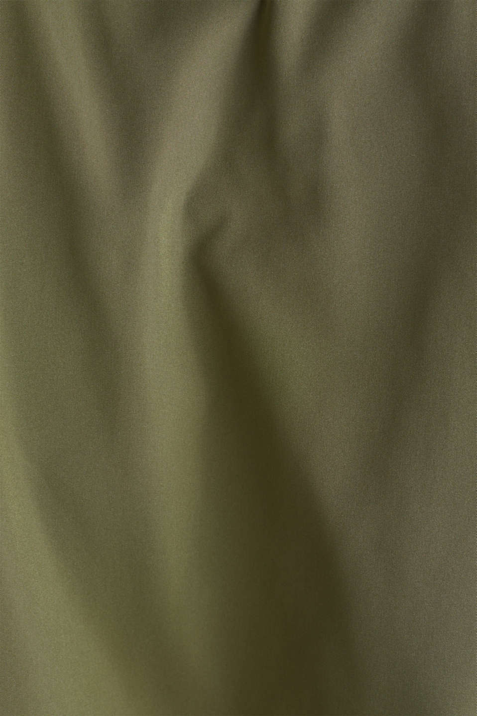 Nylon bomber jacket with a hood, OLIVE, detail image number 5