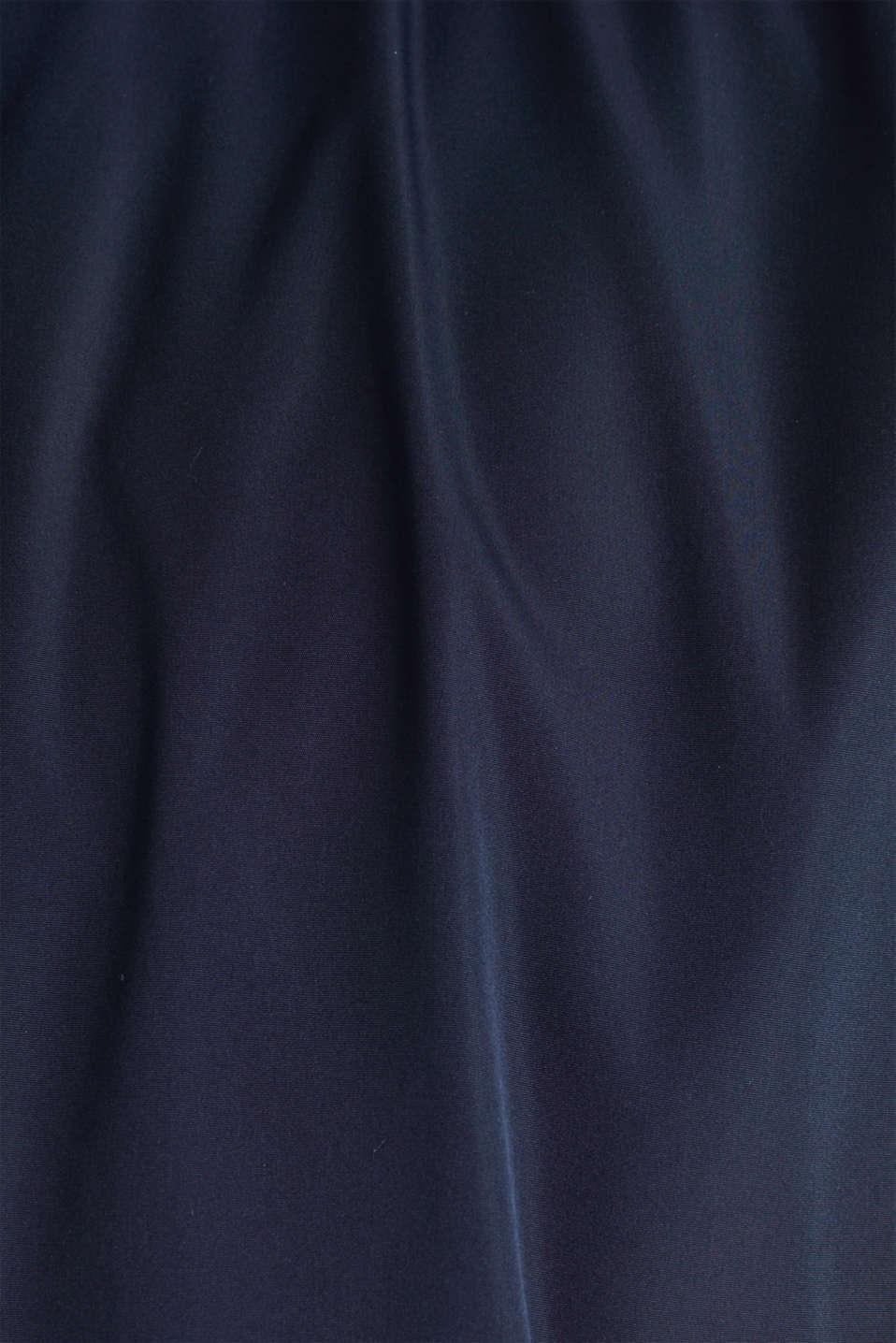 Nylon bomber jacket with a hood, DARK BLUE, detail image number 5