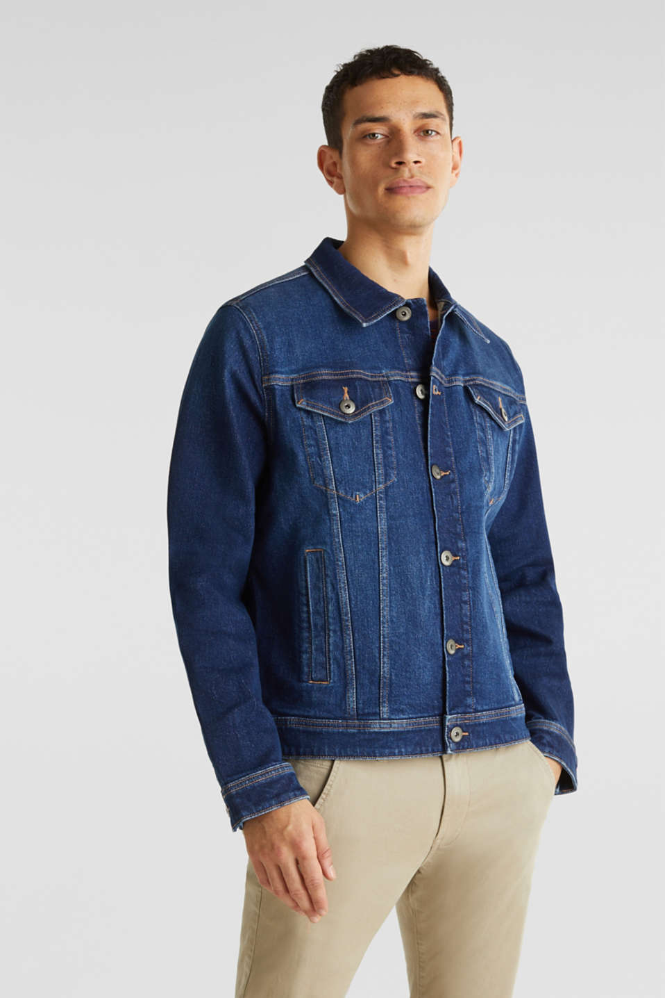 edc - Denim jacket with stretch for comfort
