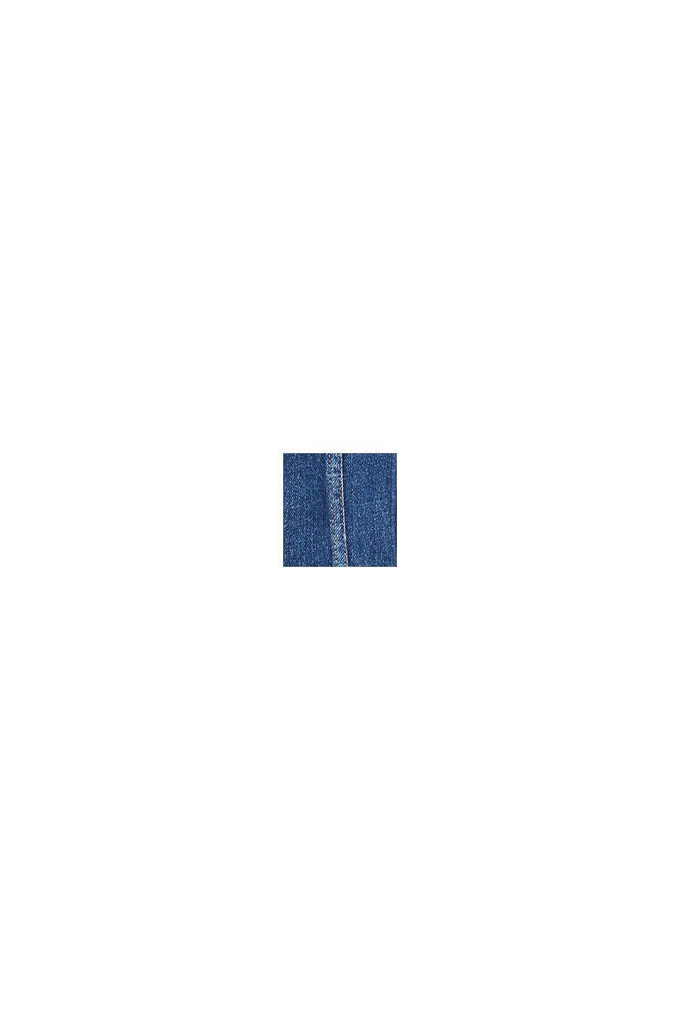 Denim jacket with stretch for comfort, BLUE DARK WASHED, swatch