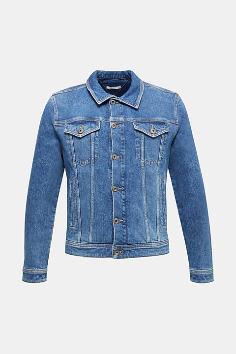 Denim jacket with stretch for comfort