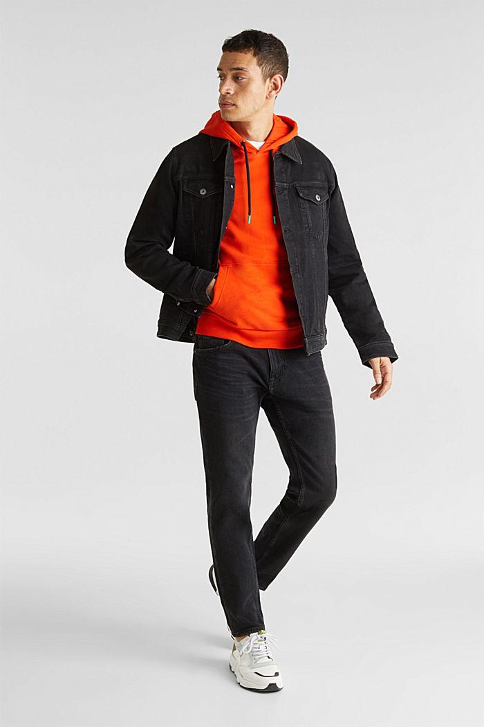 Jean jacket with a print, BLACK MEDIUM WASHED, detail image number 1