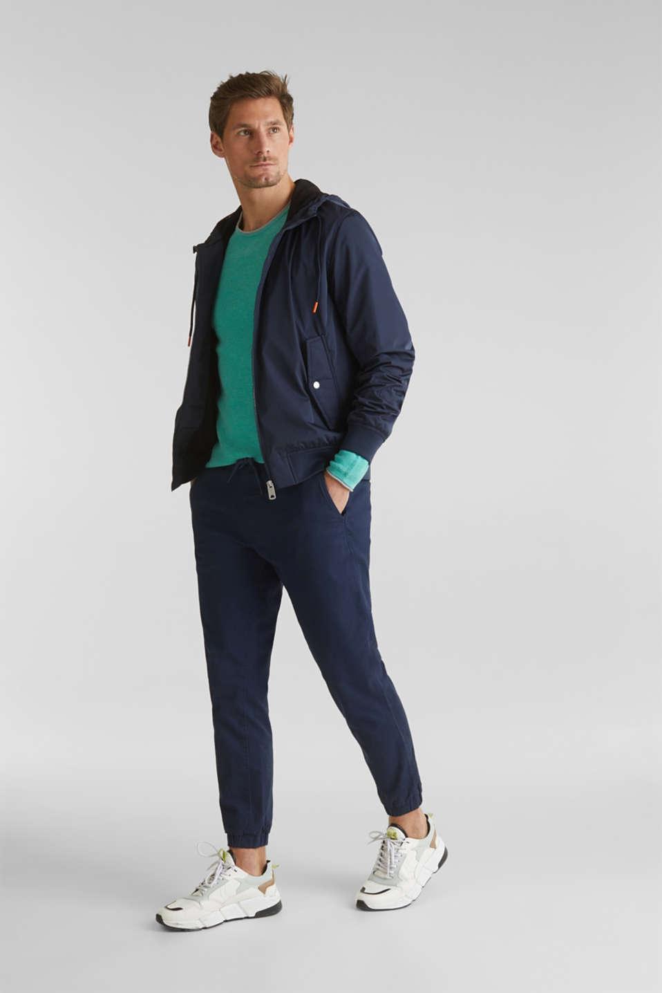 Textured jumper made of 100% cotton, LIGHT AQUA GREEN 5, detail image number 1