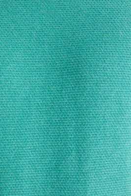 Textured jumper made of 100% cotton, LIGHT AQUA GREEN 5, detail