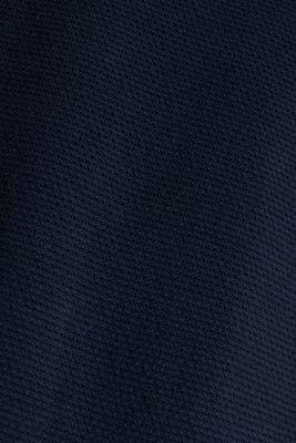 Textured jumper made of 100% cotton, NAVY, detail