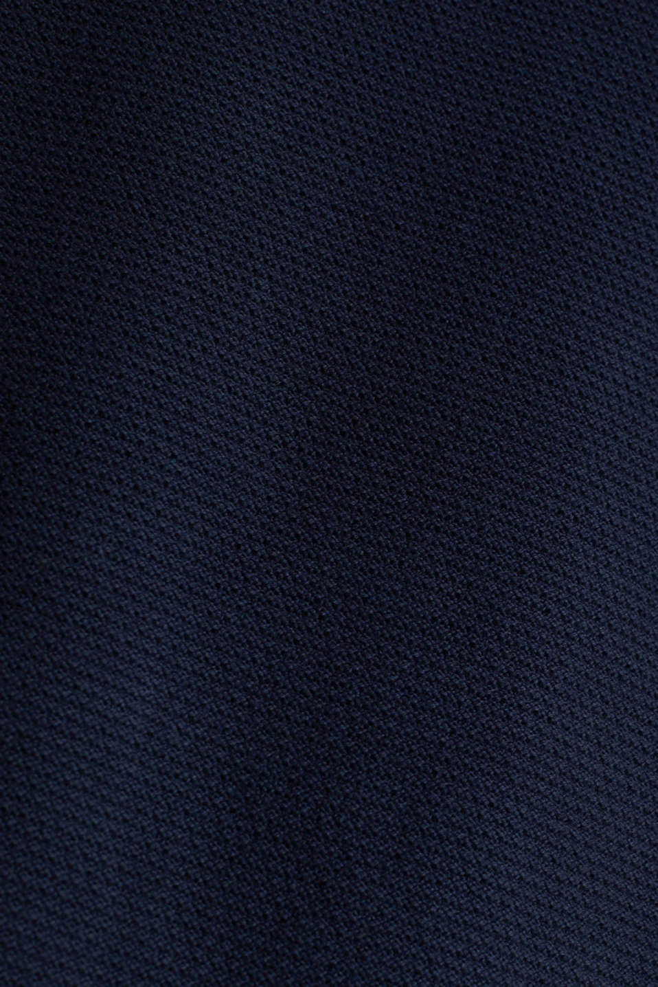 Textured jumper made of 100% cotton, NAVY, detail image number 4