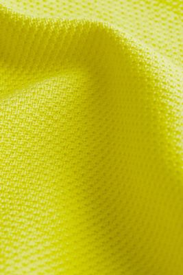 Textured jumper made of 100% cotton, BRIGHT YELLOW, detail