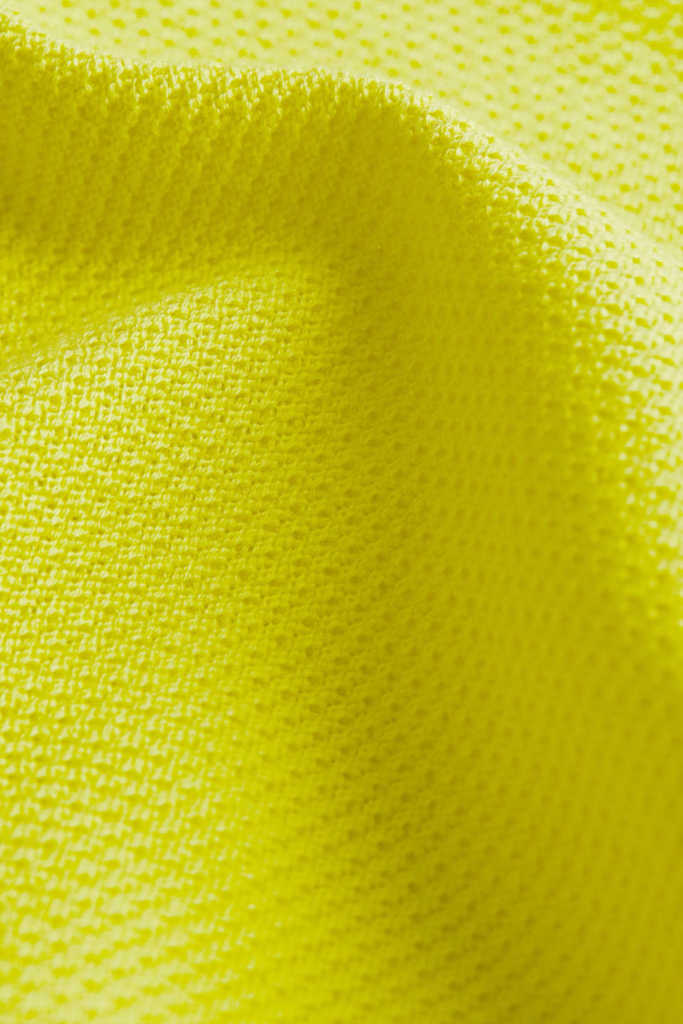 Textured jumper made of 100% cotton, BRIGHT YELLOW, detail image number 4