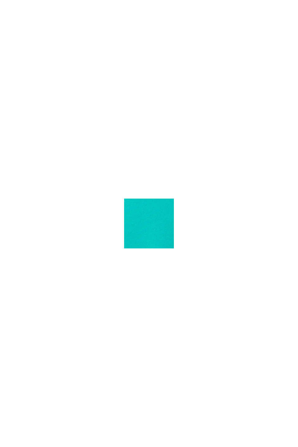Sweat-Cardigan im Color-Block-Look, AQUA GREEN, swatch