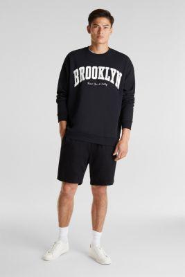 Print sweatshirt, 100% cotton, BLACK, detail