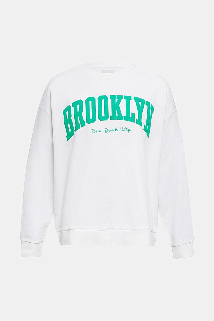 Print sweatshirt, 100% cotton, WHITE, detail image number 6