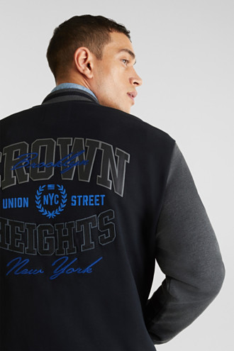 College jacket with contrasting-coloured sleeves