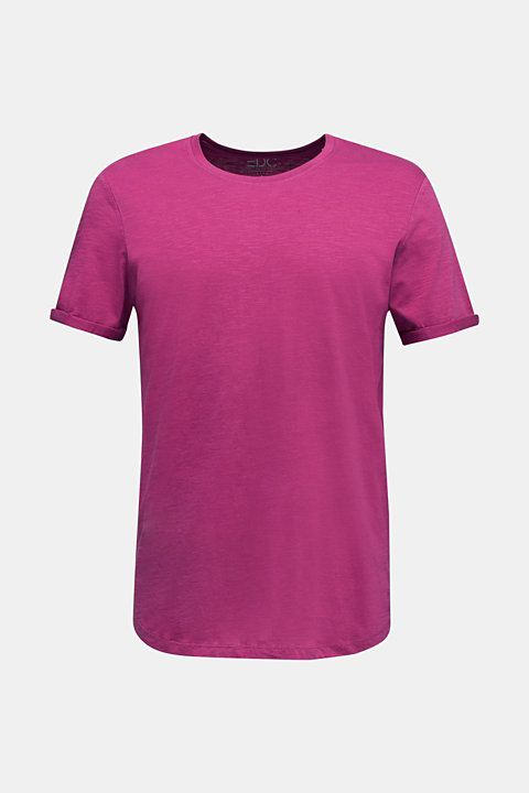 Slub jersey T-shirt in 100% cotton