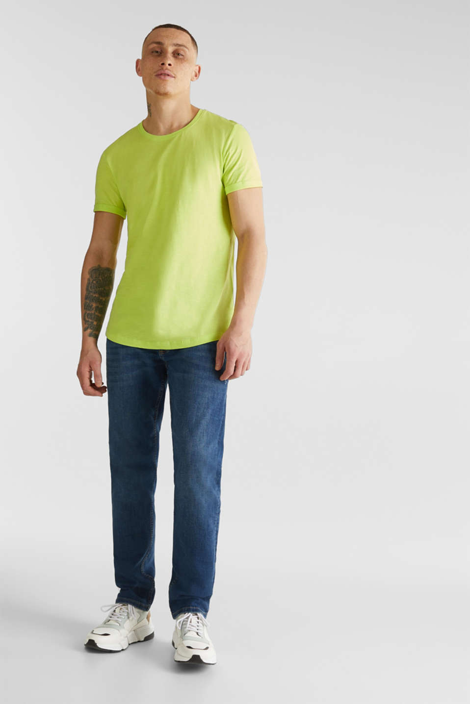 Slub jersey T-shirt in 100% cotton, BRIGHT YELLOW, detail image number 6