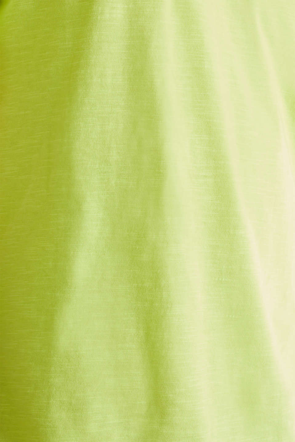 Slub jersey T-shirt in 100% cotton, BRIGHT YELLOW, detail image number 4