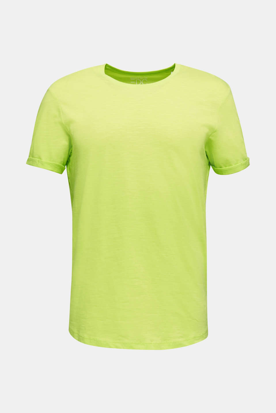Slub jersey T-shirt in 100% cotton, BRIGHT YELLOW, detail image number 7