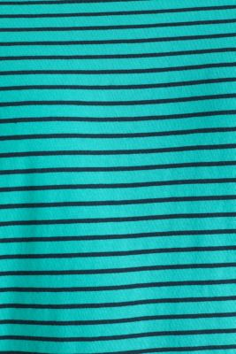 Jersey T-shirt with stripes, 100% cotton, LIGHT AQUA GREEN 3, detail