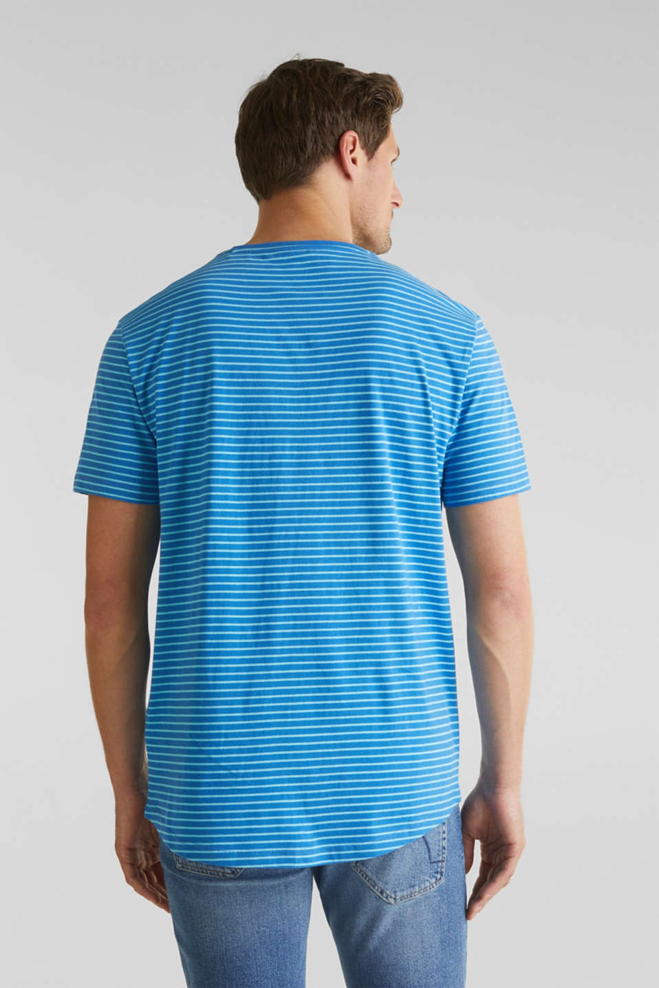 Jersey T-shirt with stripes, 100% cotton, BLUE 3, detail image number 3