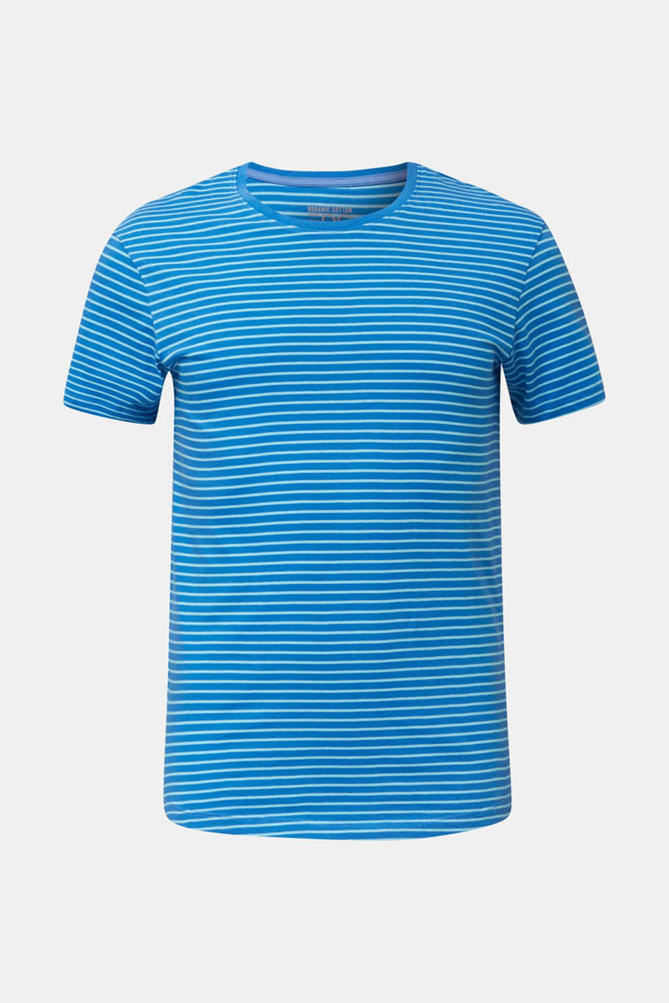 Jersey T-shirt with stripes, 100% cotton, BLUE 3, detail image number 7