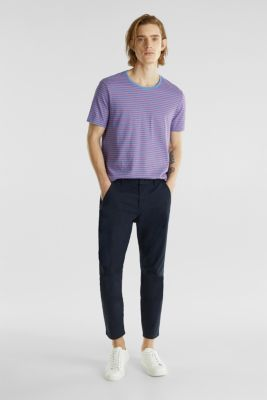 Jersey T-shirt with stripes, 100% cotton, LIGHT BLUE 3, detail