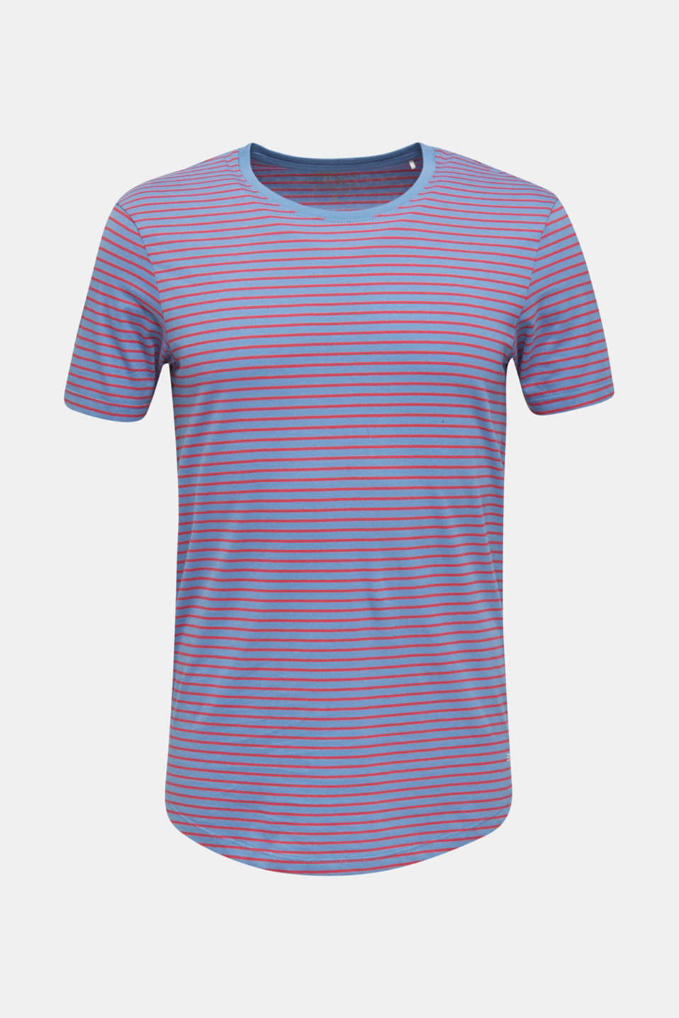 Jersey T-shirt with stripes, 100% cotton, LIGHT BLUE 3, detail image number 7