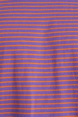 Jersey T-shirt with stripes, 100% cotton, PURPLE 3, detail